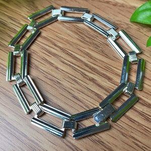 New Silver Square Bracelet